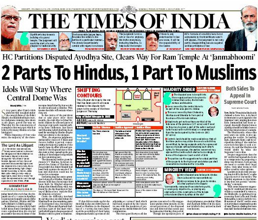 Today's Headlines Hindu