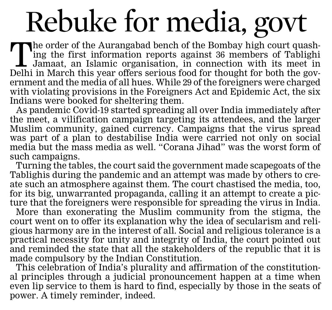 Rebuke for media, govt